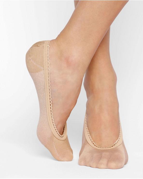Mercerised cotton invisible socks