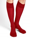 Silk and cotton knee-high socks