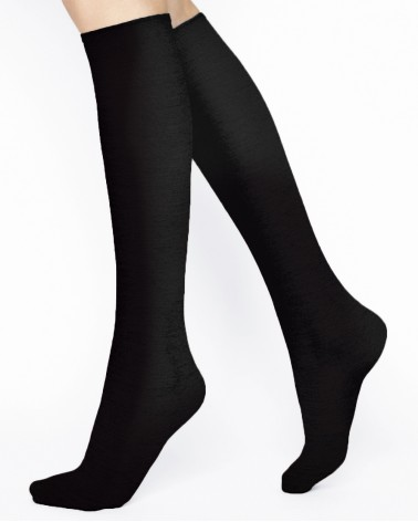Wool knee-high socks
