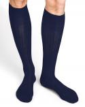 100% mercerised cotton knee-high socks