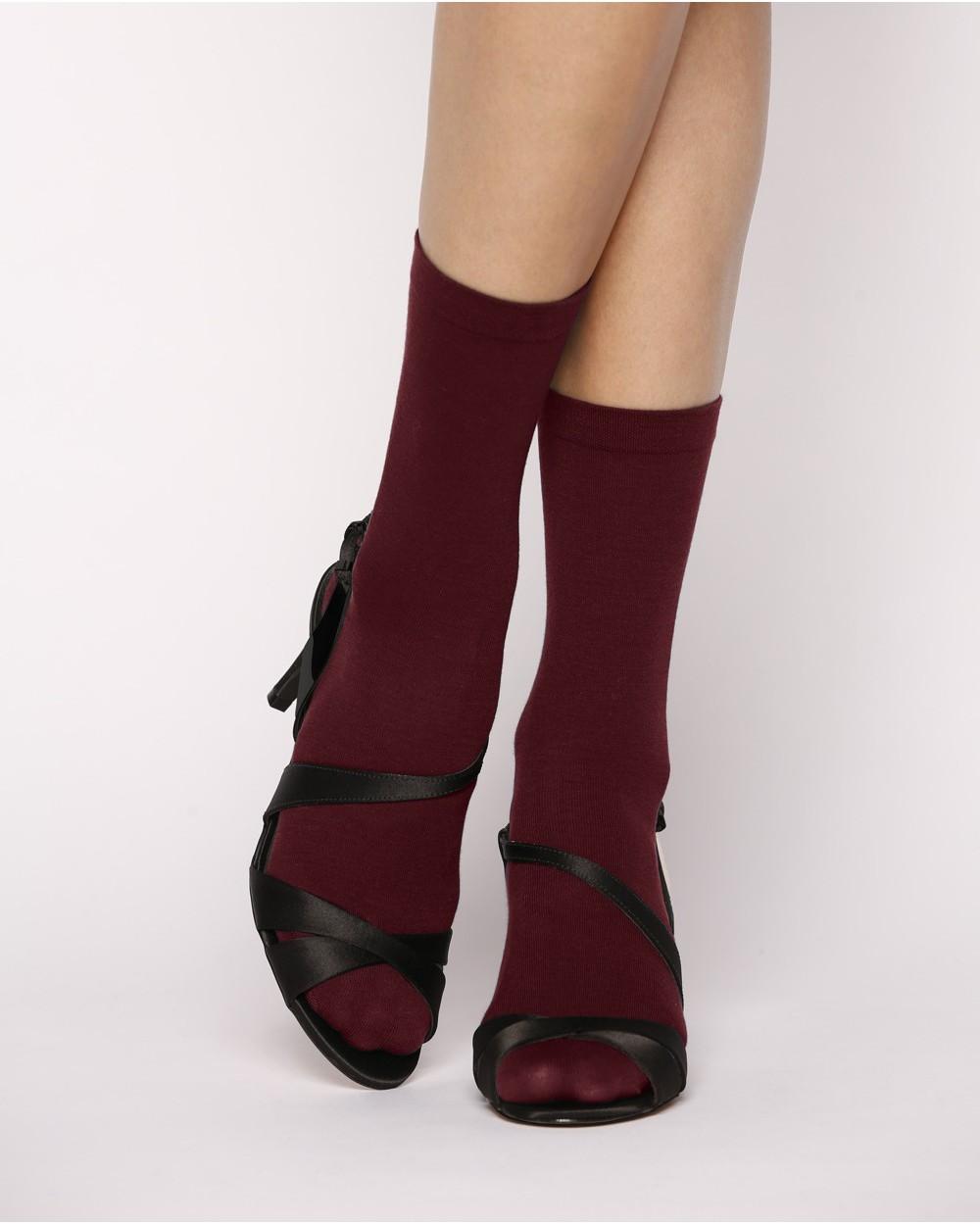 chaussettes fines 100 coton chaussettes unies femmes bleufor t. Black Bedroom Furniture Sets. Home Design Ideas