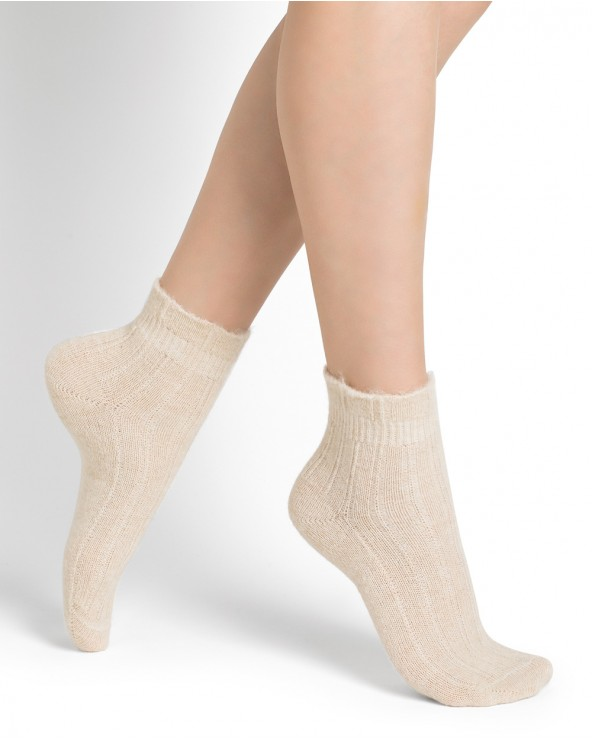 Plain alpaca ankle socks