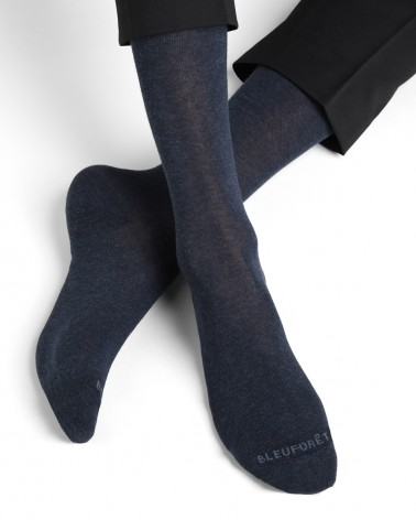 Chaussettes coton sans couture unies