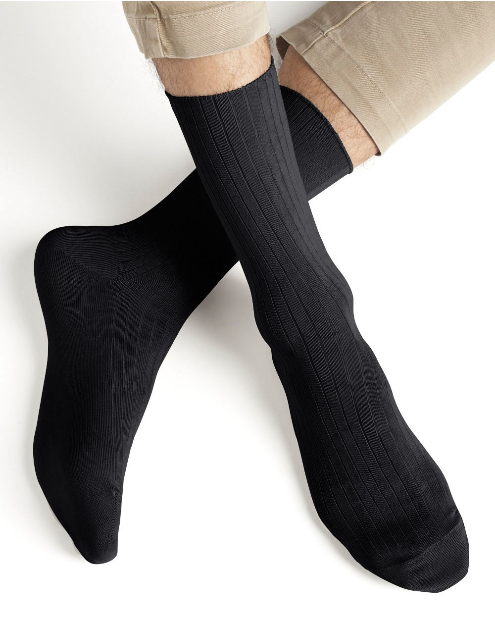 Non-binding mercerised cotton socks