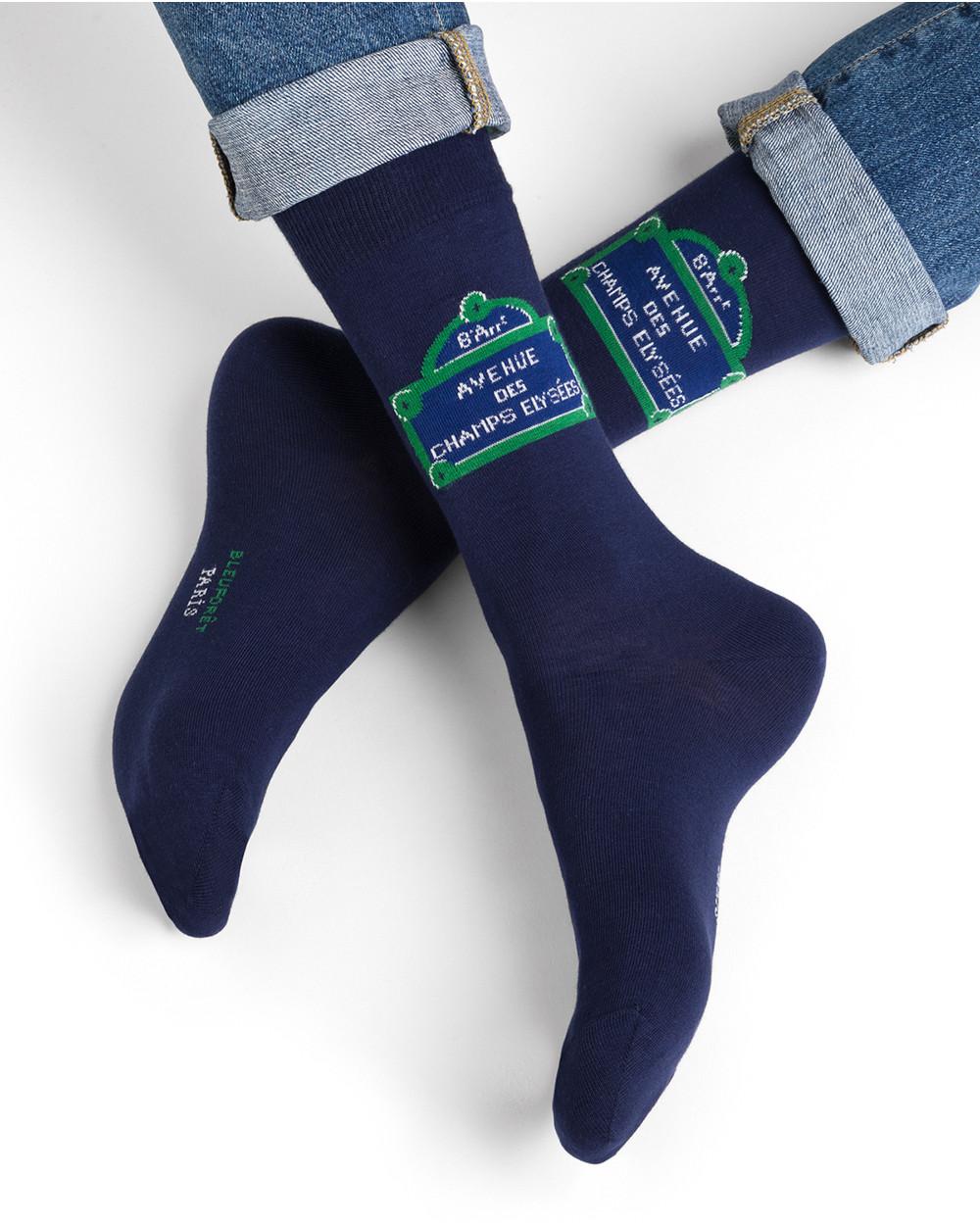 Chaussettes coton motif Paris Champs Élysées
