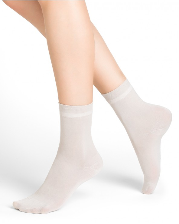 Mercerised cotton ankle socks