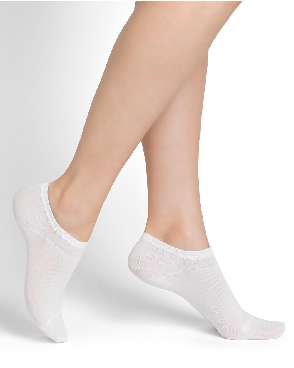 Mercerised cotton low-cut socks