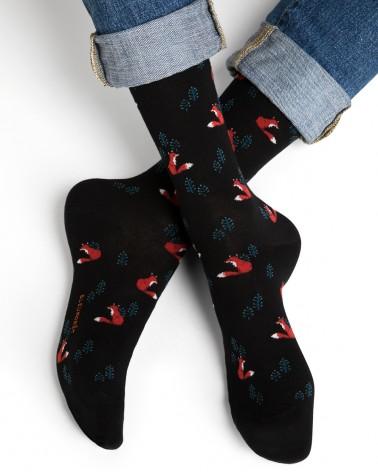 Coffret cadeau chaussettes coton Fantaisie renard