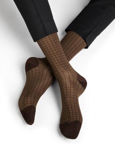 Chaussettes fil d'Écosse motif prince de galles