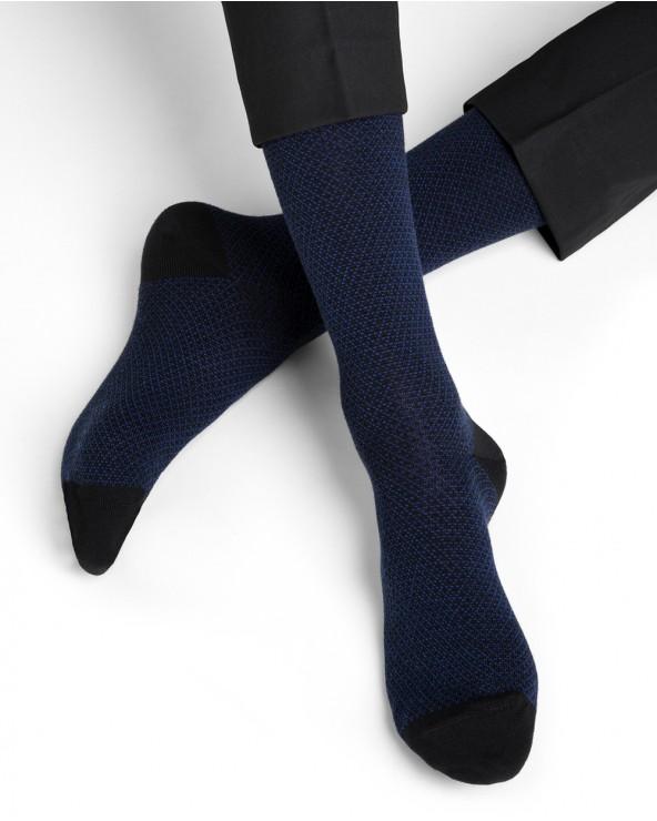 Chaussettes laine motif jeu de maille