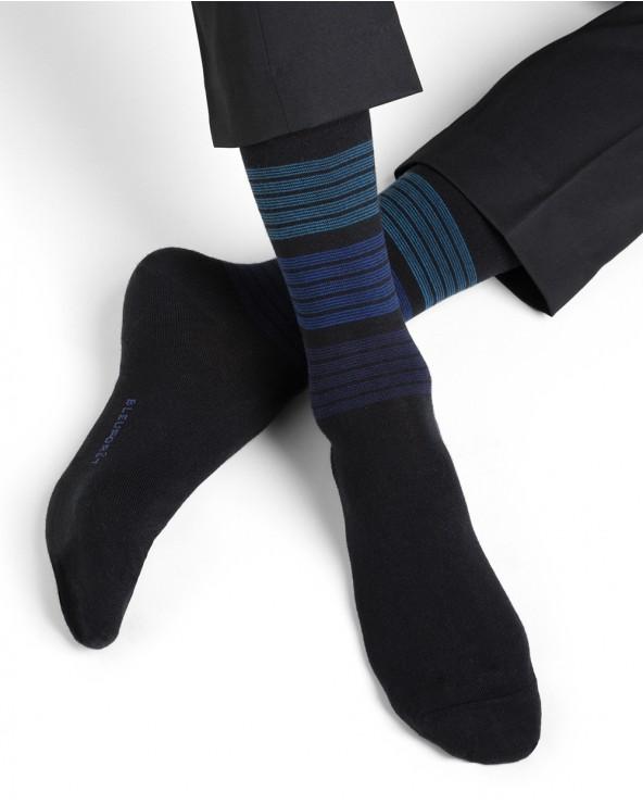 Chaussettes laine motif rayures dégradées