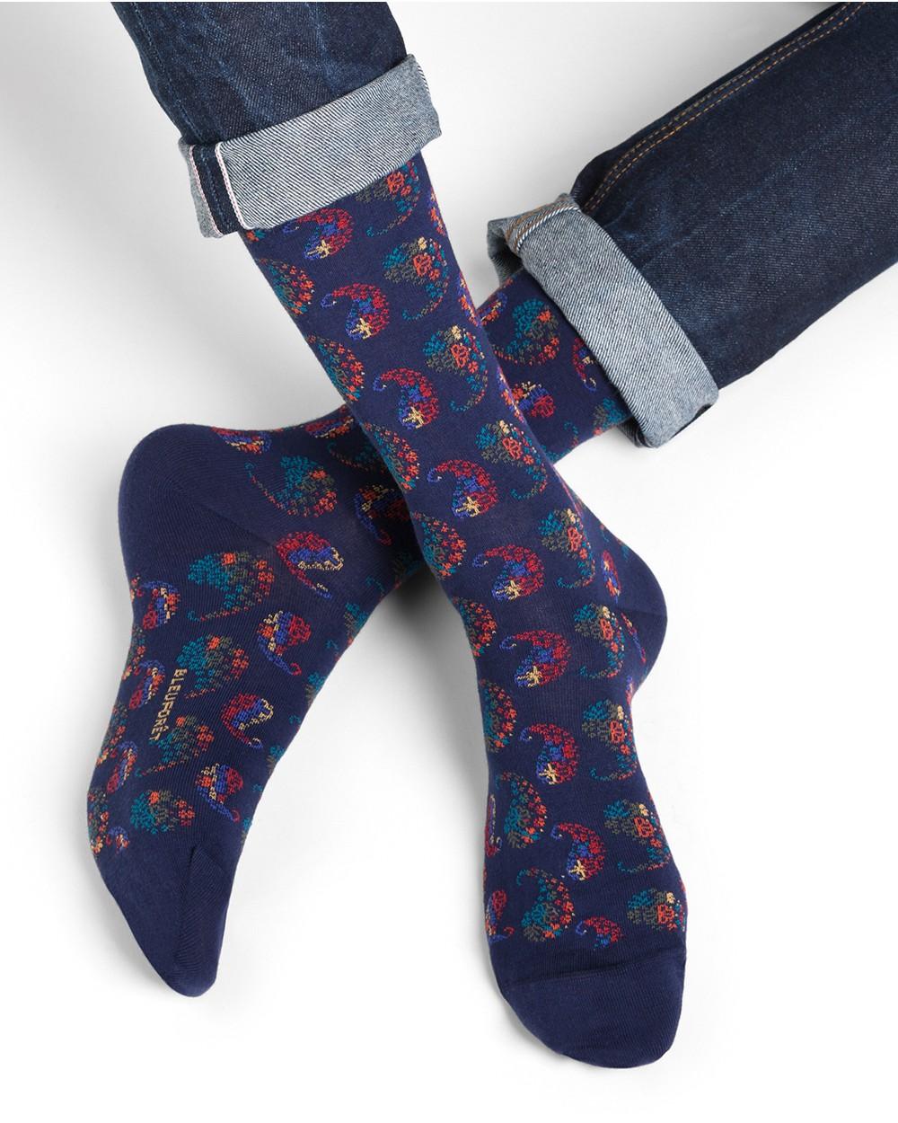 Chaussettes coton motifs arabesques