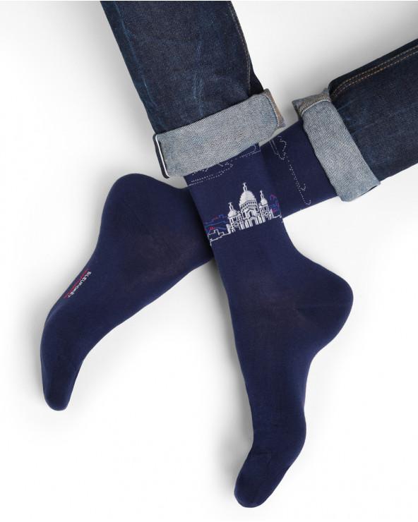 Chaussettes coton motif montmartre