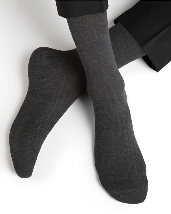 Non-binding mercerised cotton socks