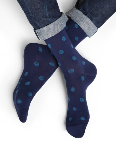 Chaussettes coton d'Égypte motifs pois