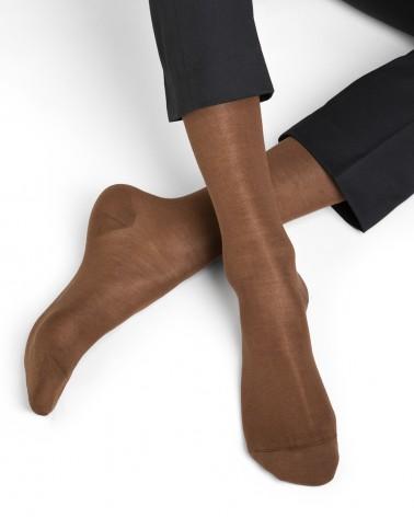 Chaussettes soie et coton unies