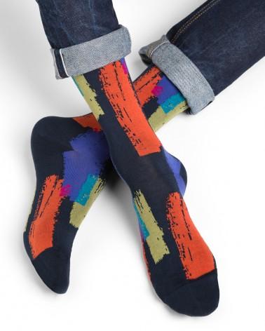 Chaussettes coton motif peinture
