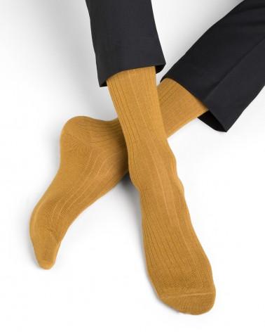 Chaussettes Cachemire et Soie à côtes