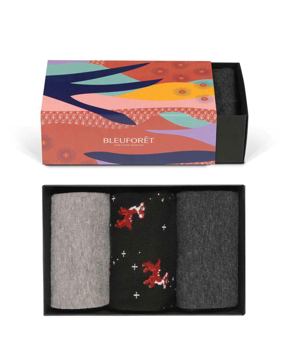 Fancy Fawn Cotton Gift Box