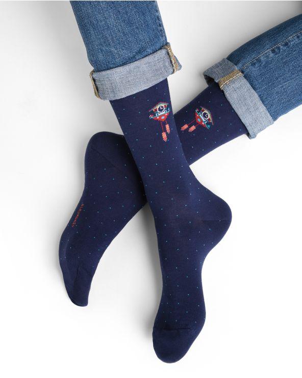 Chaussettes coton motif coucou suisse