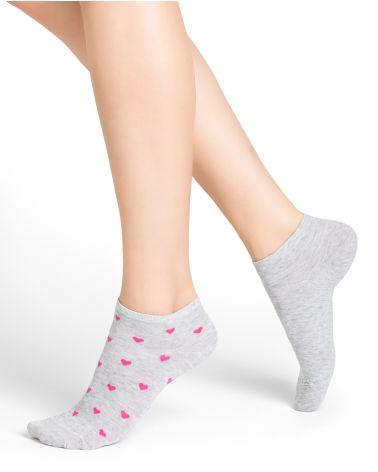 Socquettes coton motifs cœurs
