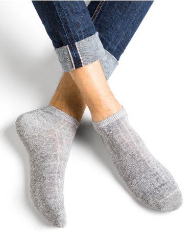 Socquettes lin et coton