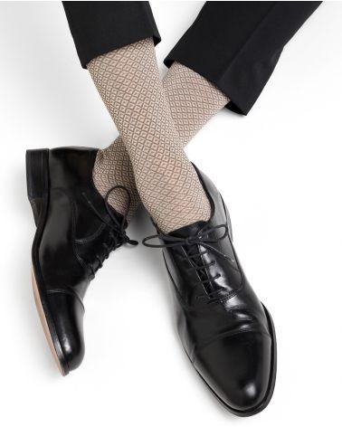 Chaussettes fil d'Écosse motif losanges