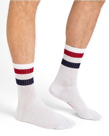 Chaussettes coton à bandes