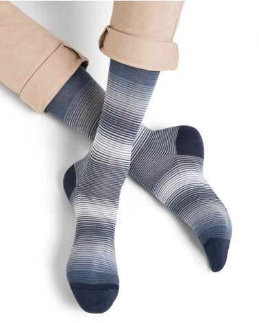 Chaussettes coton d'Égypte motif milleraies