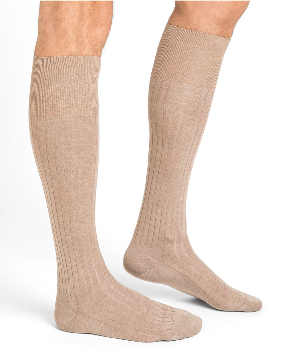 100% mercerised cotton knee-high socks