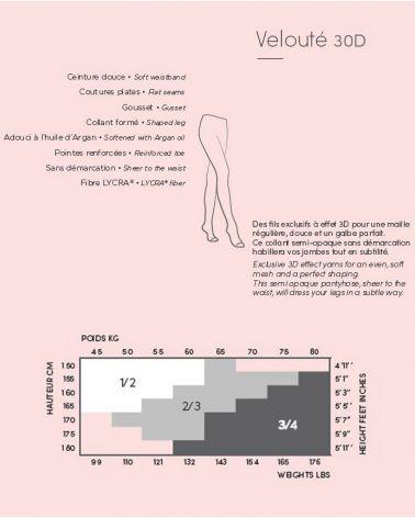30D dot pattern semi-opaque tights