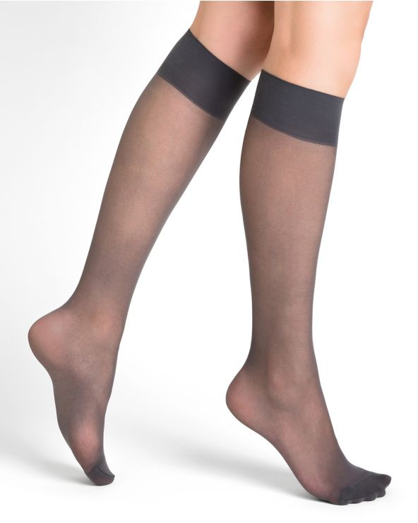 18D matte knee highs