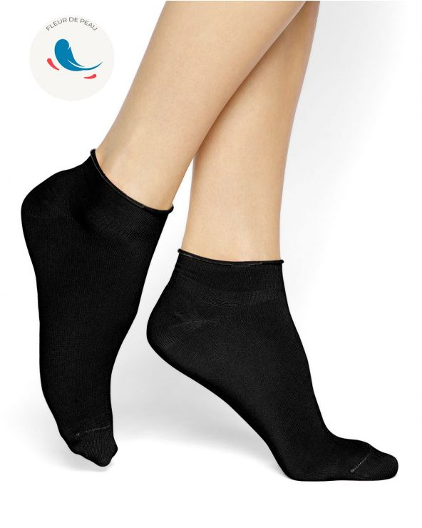 Hypoallergenic velvet cotton ankle socks