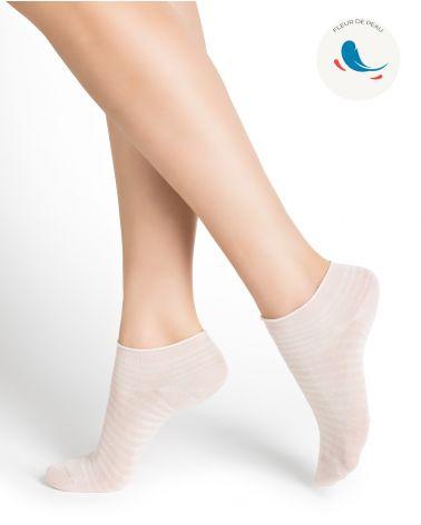 Socquettes ultra-fines hypoallergéniques coton rayées
