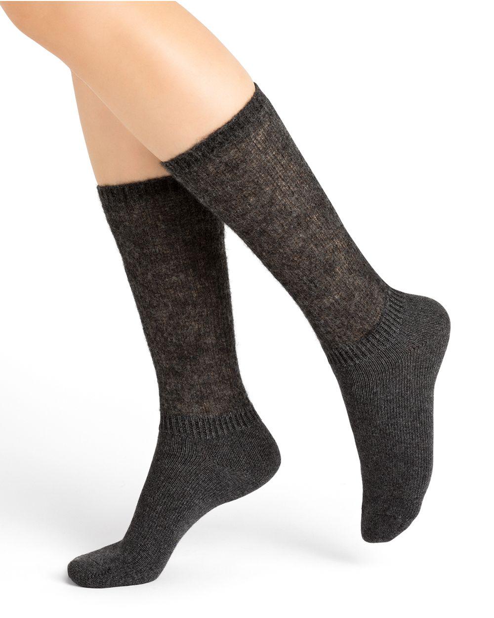 Alpaca slouch socks