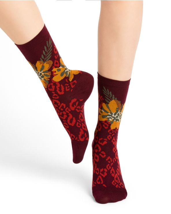 Panther pattern cotton socks