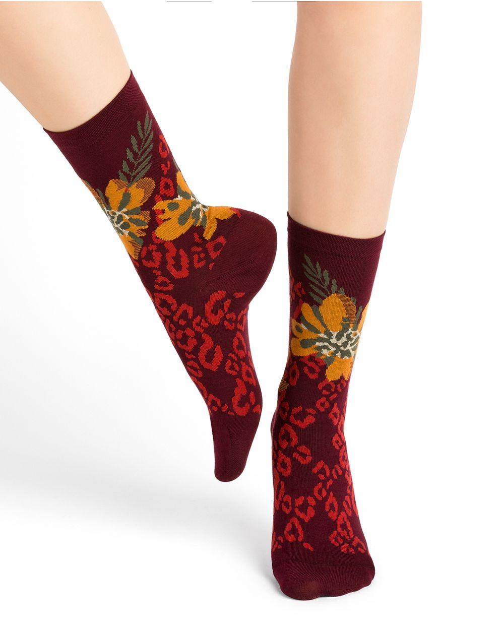 Panther pattern cotton socks