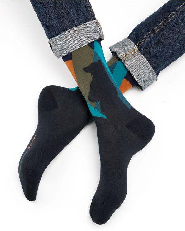 Chaussettes coton motif ours