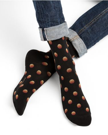 Shaded polka dot Egyptian cotton socks