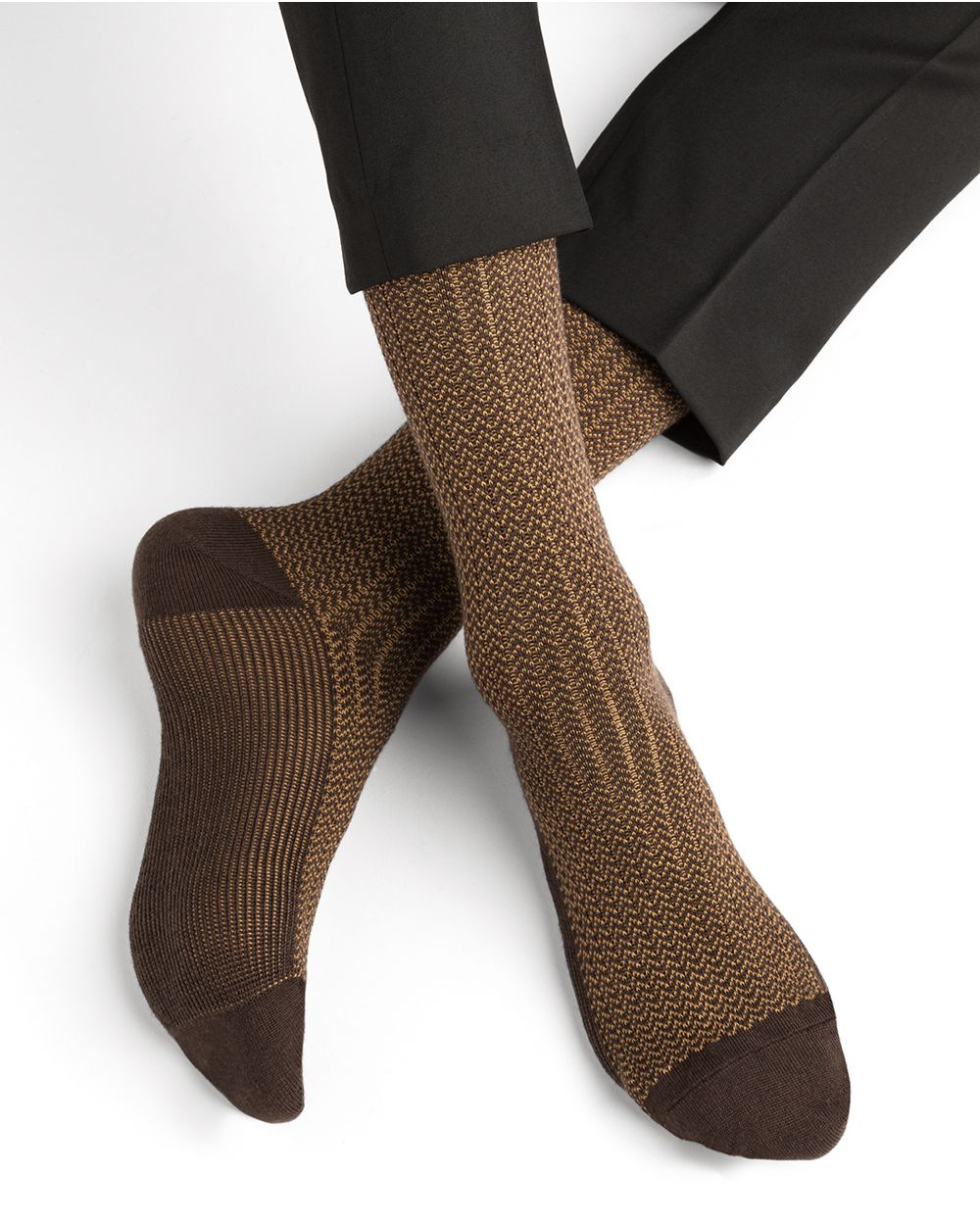 Chaussettes laine motif chevrons
