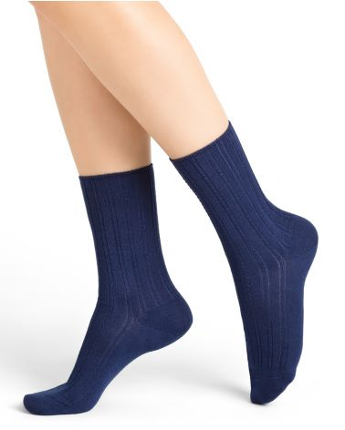 Ribbed micro-modal and cashmere socks