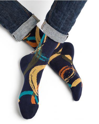 Circle pattern cotton socks