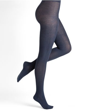 Pure cotton cabled tights