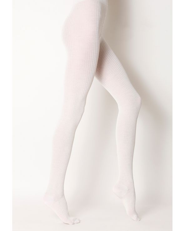 Silk and wool tights