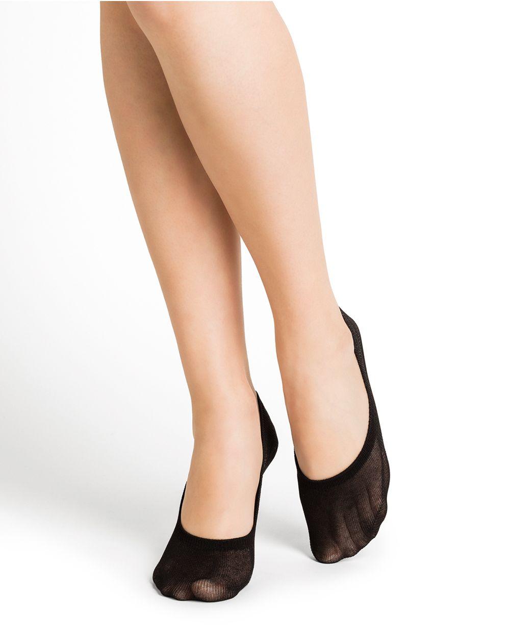 Mercerised cotton ballet liner socks