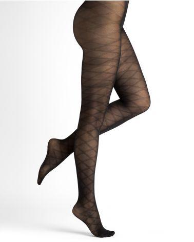 Collant Semi-Opaque 30D Motif Losanges - Excellence