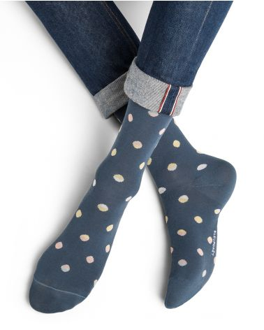 Chaussettes Coton d'Égypte Motif Pois Dégradés