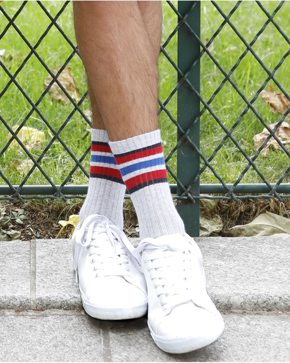 Chaussettes Coton à Bandes Épaisses