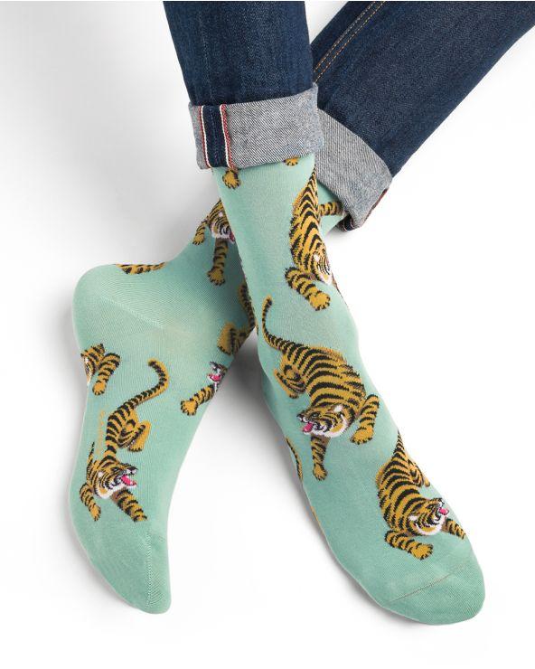 Chaussettes Coton Motif Tigres