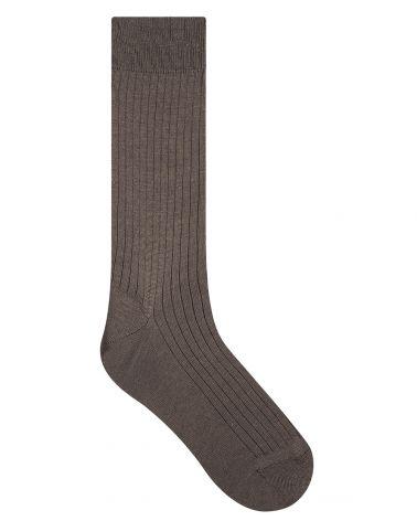 Ribbed cashmere, wool & silk socks